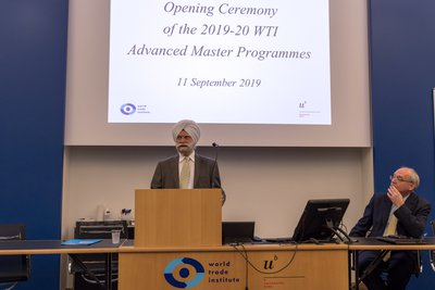 Ambassador Ujal Singh Bhatia gave the keynote address    © WTI