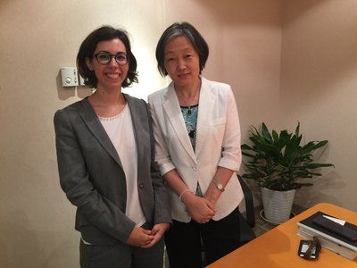 Ilaria Espa meets with Ms Feng Xuewei, Senior Legal Counsel at Allbright Law Offices, Beijing